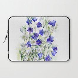 Bluebells watercolor flowers, aquarelle bellflowers Laptop Sleeve