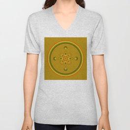 70s Circle Designs - Orange, Brown, Green Unisex V-Neck