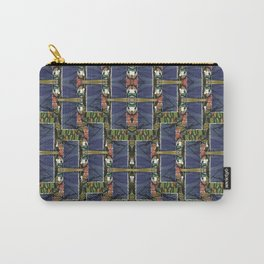 Cool Woven Blue Carry-All Pouch