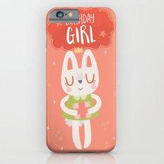 Birthday Girl Bunny Card Slim Case iPhone 6s