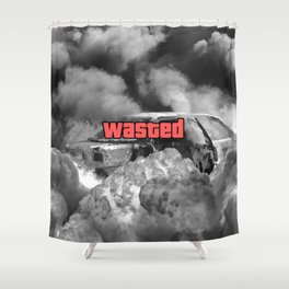Wasted GTA Shower Curtain