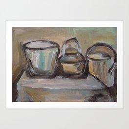 Pots Art Print