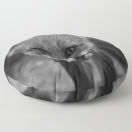 The Fox (Black and White) Floor Pillow