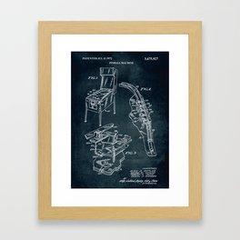 1972 - Pinball machine - Inventors A. J. Gottlieb, W, Neyens, R, T, Smith & R. F. Garbark Framed Art Print