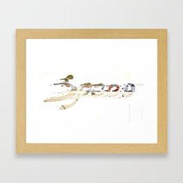 Speed Knockout Framed Art Print
