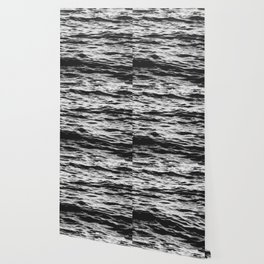Marble Waters Black and White Wallpaper