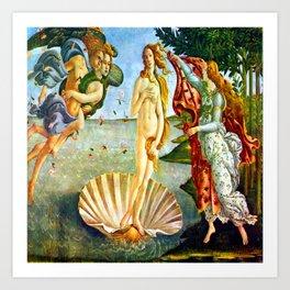 Botticelli The Birth of Venus Art Print