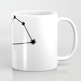 LEO (BLACK-WHITE STAR SIGN) Coffee Mug