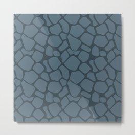Charcoal Rock Pattern Metal Print