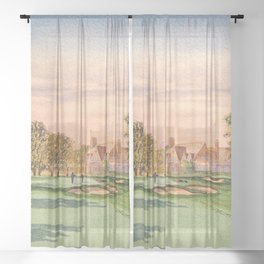 Winged Foot West Golf Course NY Sheer Curtain