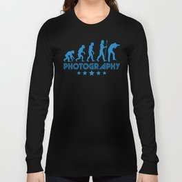 Retro Photography Evolution Long Sleeve T-shirt