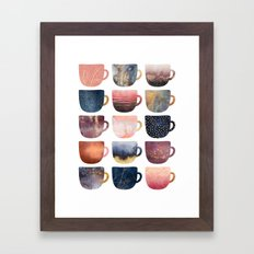 Pretty Coffee Cups 2 Framed Art Print