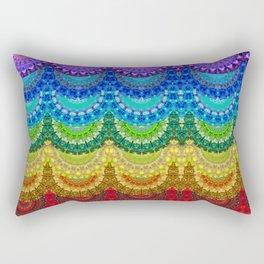 Chakra Mandala Healing Art by Sharon Cummings Rectangular Pillow