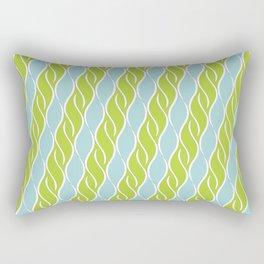 Light Green and Blue Stripes Rectangular Pillow