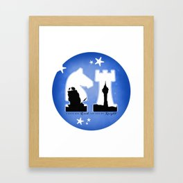KNIGHT ROOK (Blue) Framed Art Print