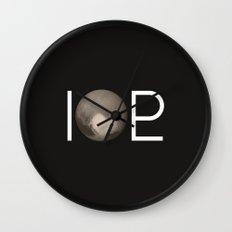 I Heart Pluto Wall Clock