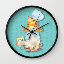 Baking with Cat: Step Three Wall Clock