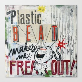 Plastic Beat Canvas Print