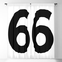 Number 6 (Black & White) Blackout Curtain