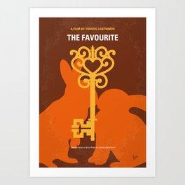 No1037 My The Favourite minimal movie poster Art Print
