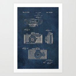 Cazin Camera patent art Art Print