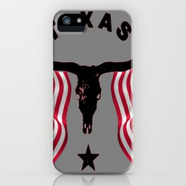 Patriotic American Flag Texas Longhorn Abstract Art iPhone Case