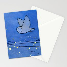 Owl and Fireflies Stationery Cards