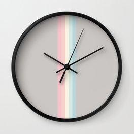 Muted Minimal Abstract Retro Stripes Bright Style - Elepaio Wall Clock