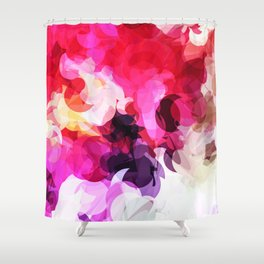 Bright Happy Color Abstract Shower Curtain