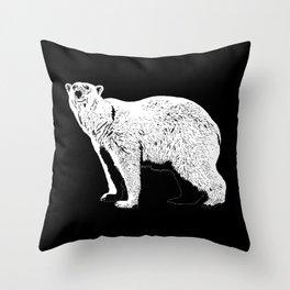 The Last Polar Bear Throw Pillow