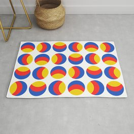 Primary colors. Simple retro spotty seamless pattern. Rug