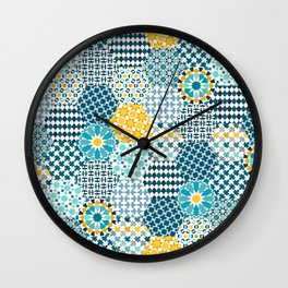 Spanish Tiles of the Alhambra Wall Clock