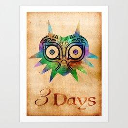 3 Days Alt Art Print