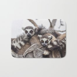 Lemur catta animals Bath Mat