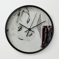 kpop Wall Clocks featuring Blood Bag by Ahri Tao