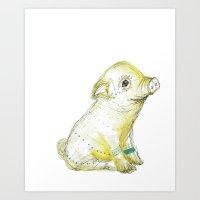 Pig Illustration Art Print