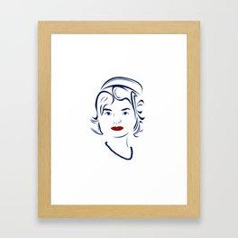 Jackie Kennedy - Hairography Jackie O Framed Art Print