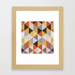 Jacquard rombs Framed Art Print