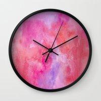 valentine Wall Clocks featuring Valentine by HollyJonesEcu