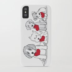Valentine's Day Dogs iPhone X Slim Case