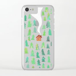 Alone in the woods Clear iPhone Case