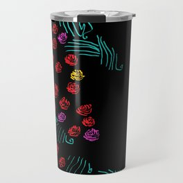 Yerushalyim and Roses Travel Mug