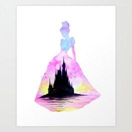 Cinderella Double Exposure - Castle Art Print