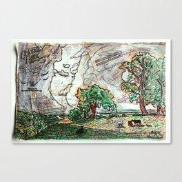 CALIFORNIA SPRING - ALBERT BIERSTADT - DANOR REMASTER Canvas Print