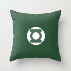 Green Lantern Vector Logo Throw Pillow
