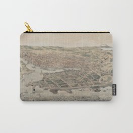 Vintage Pictorial Map of Victoria BC (1889) Carry-All Pouch