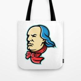 Benjamin Franklin Mascot Tote Bag
