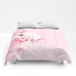 Sneaky Baby Pink Pig Comforters