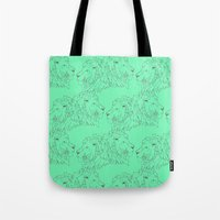 lions Tote Bags featuring Lions by LIRO