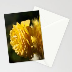 Yellow Rose Flood Stationery Cards